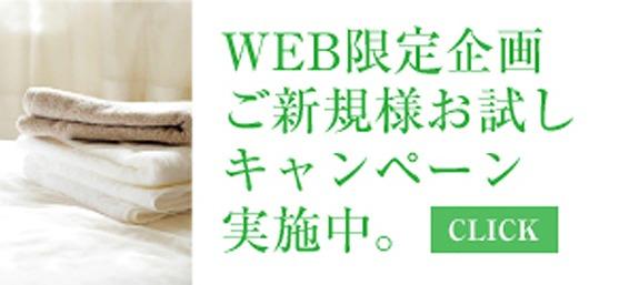 WEB限定企画 ご新規様お試しキャンペーン実施中。 CLICK