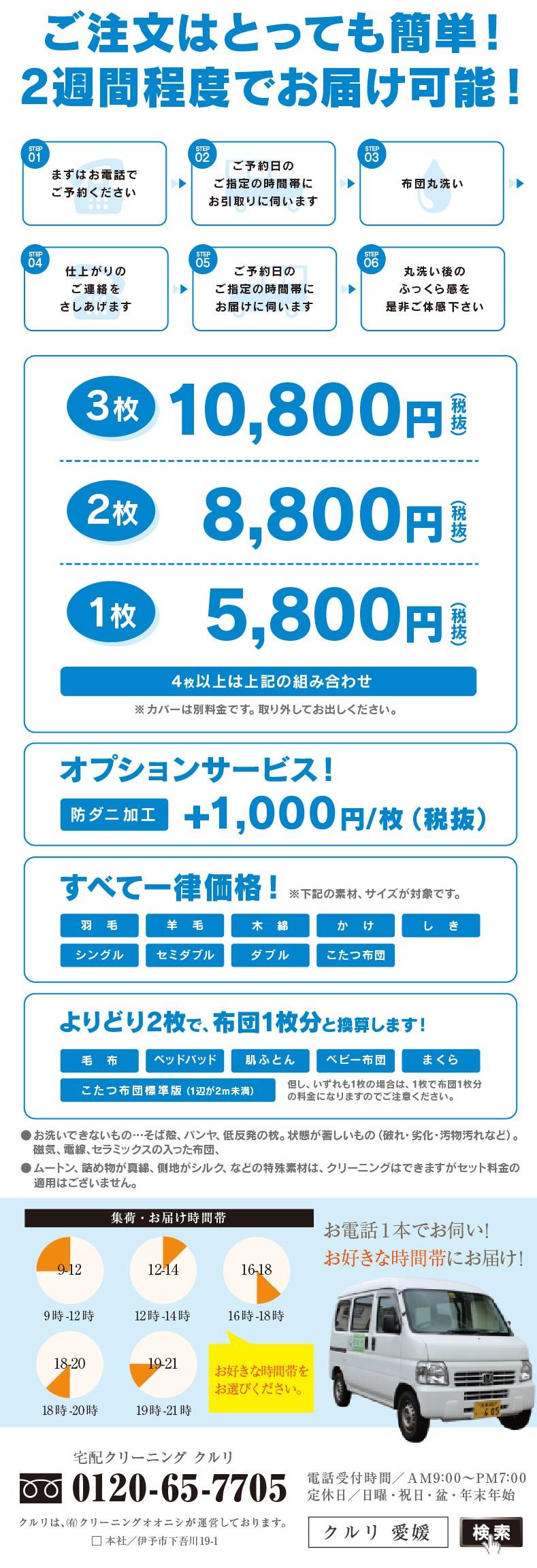 松山市の布団クリーニングキャンペーンウラ